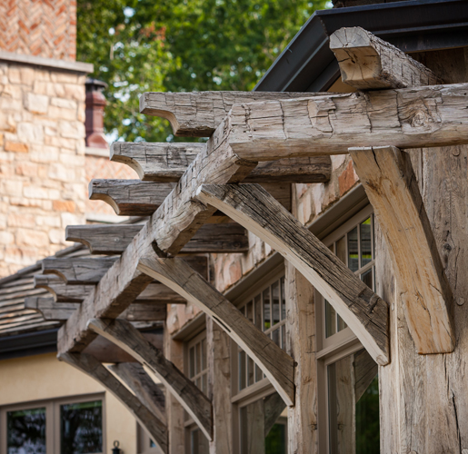 Exterior Timbers on Door County Residence