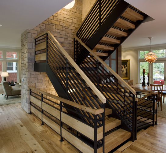 Reclaimed Stair Treads in Chicago Home