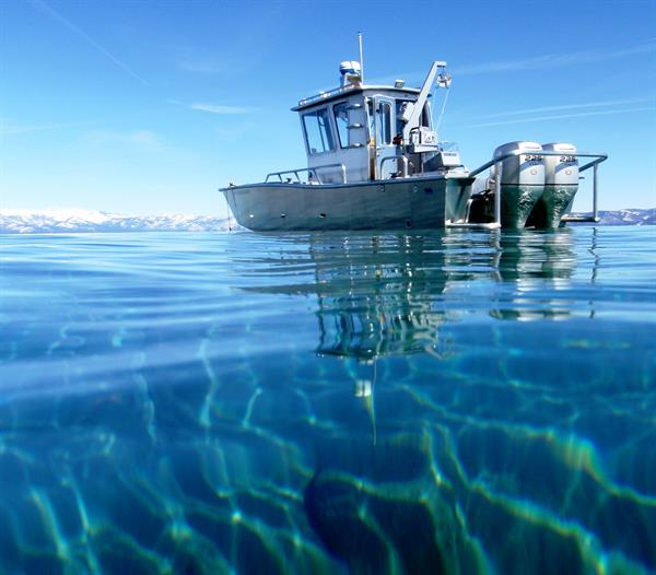 Research vessel on Lake Tahoe