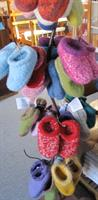 Hand knit felted clogs