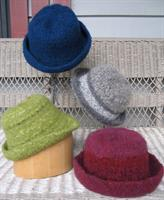 Hand knit felted hats