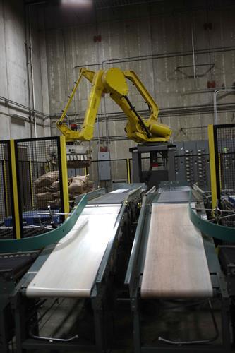 18. Robots help palletize potato bales
