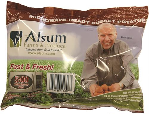 12 oz. Microwave-Ready Russet Steamer Potatoes - a value added potato offering
