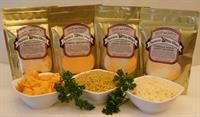 Our Cheesy Macaroni kits are so cheesy and flavorful! Pasta and Cheese packet are all measured for you!