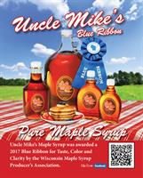 2017 Blue Ribbon Award from WI Maple Syrup Producer's Association
