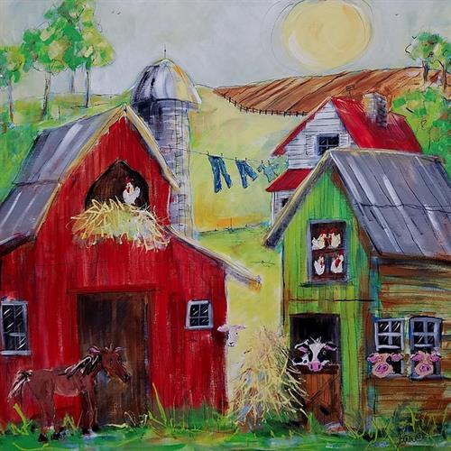 Whimsical Farm Paintings