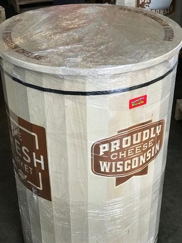 Cheese barrel ready to ship