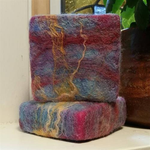 Cranberry Spice Felted Soap