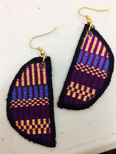 Lightweight Fabric Earrings