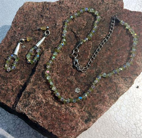 Peridot/Crystals Set