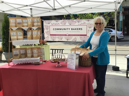 Our Founder, RoseMary, at a Fair.