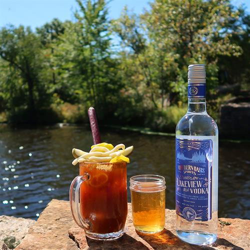 Spice up your Bloody Mary with Lakeview Vodka - Everything's better with a View.