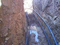 Horizontal Pipe run in the Trenches