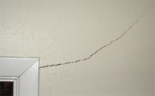 Cracked drywall, or...