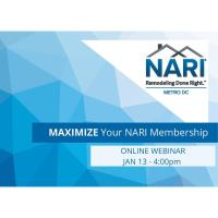 Maximize Your NARI Membership - January 2021