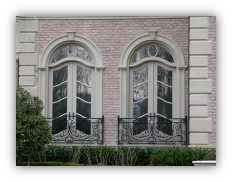 Extensive selection of windows, including custom designing