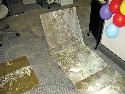 Example of Concrete Moisture Floor Failure and what our testing prevents