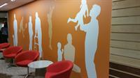 finished wall with printed digital wall covering