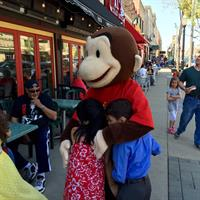 Curious George visit the kiddos in La Grange
