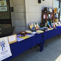 Selling books in front before we even opened the doors to our La Grange Location!