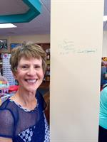 Susan Elizabeth Phillips the first to sign our wall!!