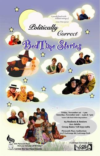 Politically Correct Bedtime Stories by LATTE Theater,Adapted for stage and Directed by Felicia Pfluger