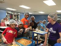 Volunteering at Feed My Starving Children