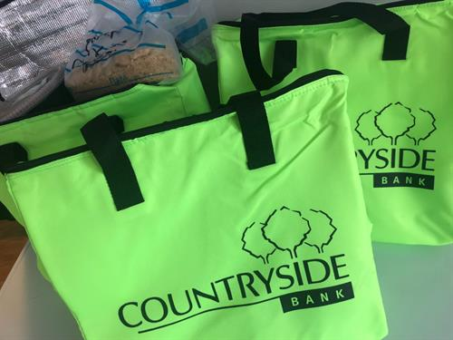 BEDS extends a warm thank you to Countryside Bank for providing us with insulated food bags!