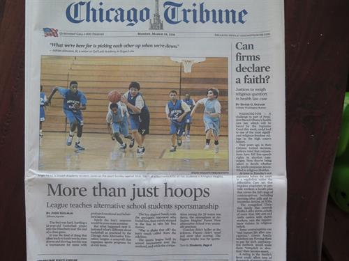 Cover of the Chicago Tribune