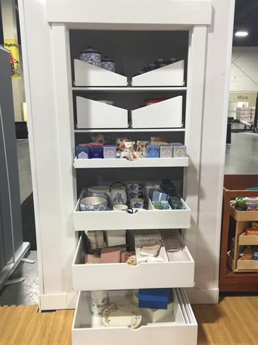 Customized solution for a  drywall pantry