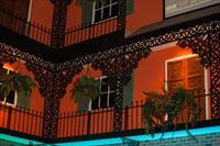 Faux wrought iron laced balcony - Bourbon Square Casino, Reno, NV