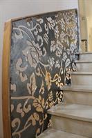 Steel handrail panel