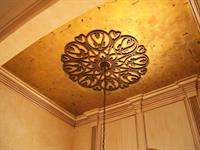 Faux iron ceiling medallion - residential foyer