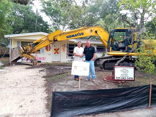Demolition of existing home in Safety Harbor