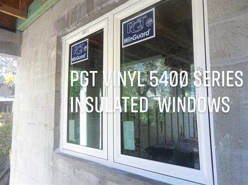 Standard Spec PGT Vinyl Insulated Windows 5400 non-impact 5500 impact