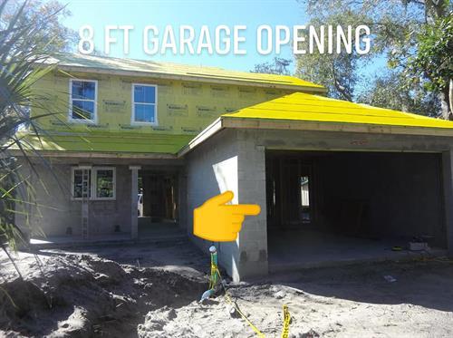 Standard Spec: 8 ft tall Garage Opening