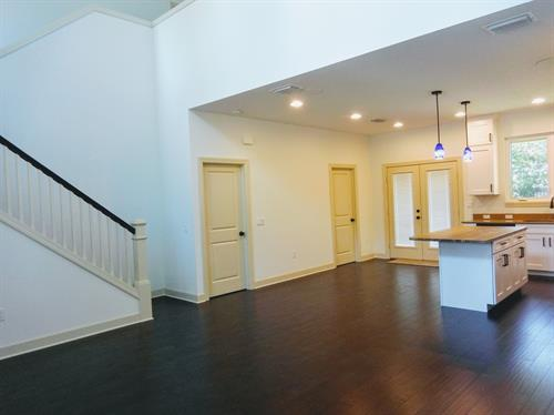 View of open floor plan: Living area & Kitchen