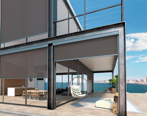 Exterior Retractable Screens.  Use with solar screen or insect screen.  Hurricane rated to 185mph models available.