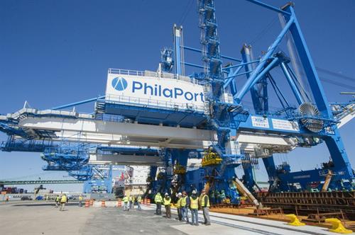 Port Philadelphia ZPMC Crane Offload