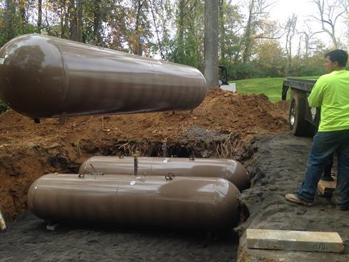 Underground tank community set up