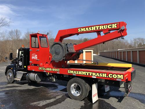 Our patented Smash Truck™ compacts the contents in your dumpster(s) creating more room and saving you money each time we visit!
