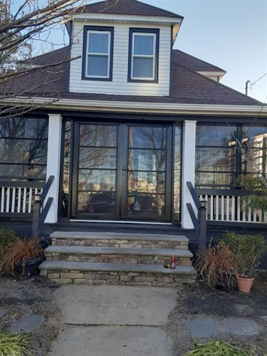 After photo- Black frames with French door