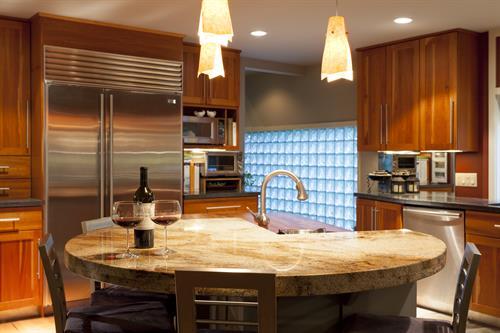 Cozy kitchen island