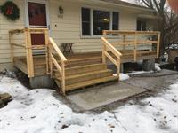 Porch Addition: plans, excavation, grade work, excavation, footings, framing, flatwork, and stairs
