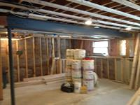 Basement Remodel:  Plans, footings, post removal, framing, and insulation.