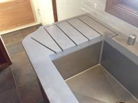 Kitchen remodel:  custom counter, single basin sink, reconfiguration, and planning.