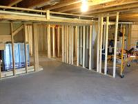 Basement built out:  planning, framing, electrical, plumbing, hvac, and finishing.