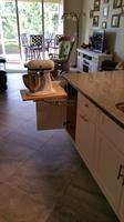 This Kitchen evn comes complete with a pullout for your Kitchen Aid Mixer!