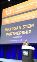 Announcement of MI STEM Partnership winning 'The Leadership Award' at TIM Detroit 2017
