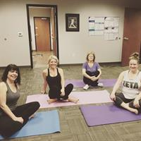 In-office yoga classes, offered every Wednesday